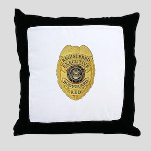 badge Throw Pillow