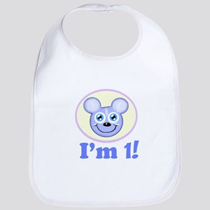 I'm 1 Boy Mouse Bib