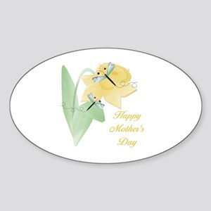 Happy Mother's Day (daffodil) Oval Sticker