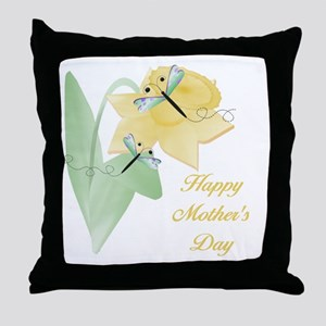 Happy Mother's Day (daffodil) Throw Pillow