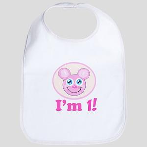 I'm 1 Girl Mouse Bib