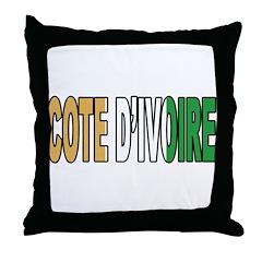 Cote D'lvoire Soccer Flag Throw Pillow