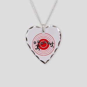 Chucktv Ninja man vs Interesc Necklace Heart Charm