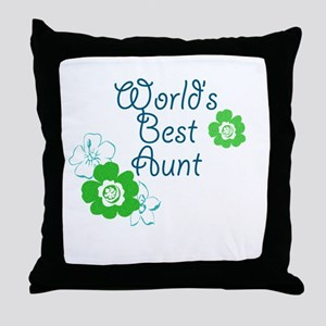 World's Best Aunt Throw Pillow
