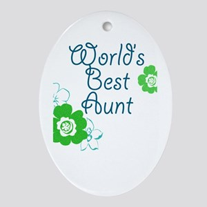 World's Best Aunt Ornament (Oval)