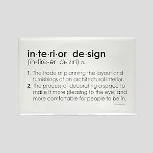 interior design DEFINITION Rectangle Magnet