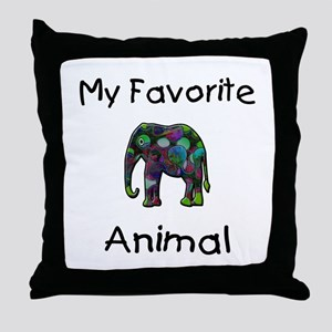 My Favorite Animal Throw Pillow