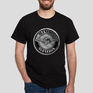 Retro Aviation Badge Dark T-Shirt