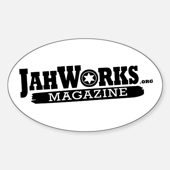 Jahworks Magazine Sticker (oval)