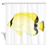 Reef Butterflyfish Shower Curtain