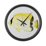 Reef Butterflyfish Large Wall Clock