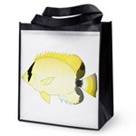 Reef Butterflyfish Reusable Grocery Tote Bag