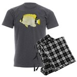 Reef Butterflyfish Men's Charcoal Pajamas