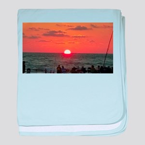Beautiful sunset baby blanket