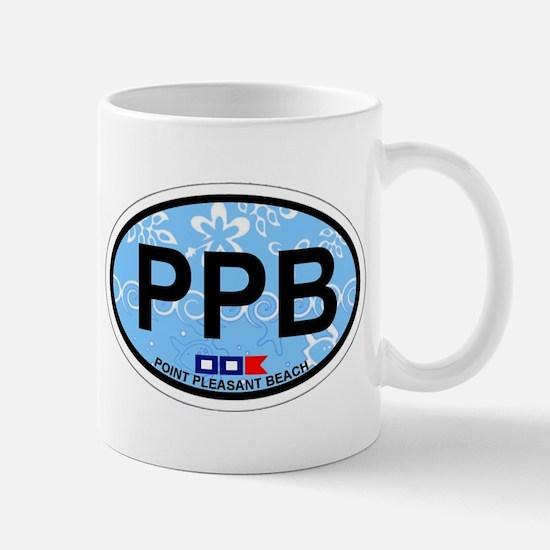 Point Pleasant Beach NJ - Oval Design Mug