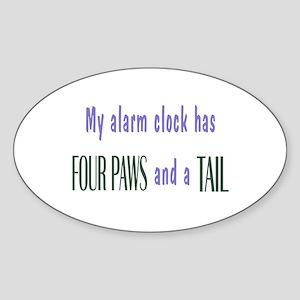 Cute Pet Alarm Clock Sticker (Oval)