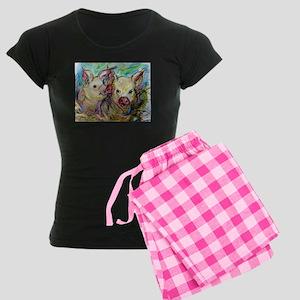 Pig, Couple, Cute, Women's Dark Pajamas