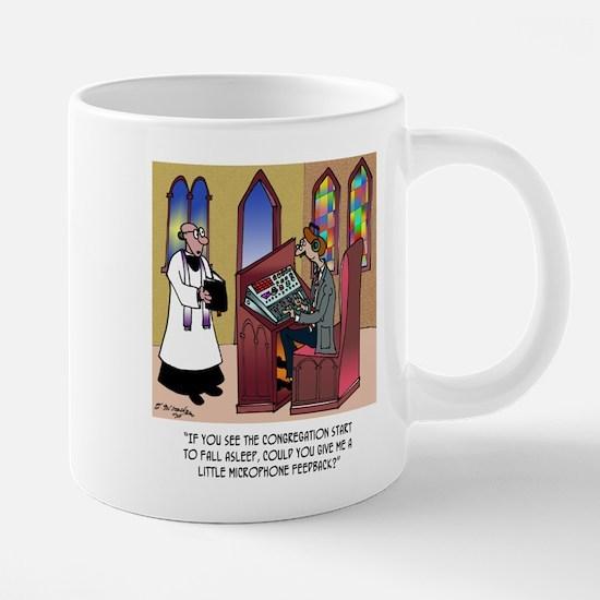Sleeping in Church 20 oz Ceramic Mega Mug