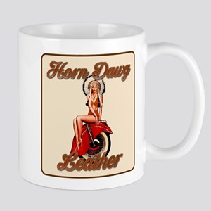 Horn Dawg Leather Mug