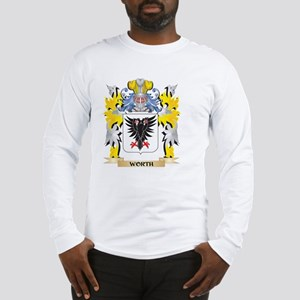Worth Family Crest - Coat of A Long Sleeve T-Shirt