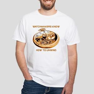 Unwind White T-Shirt