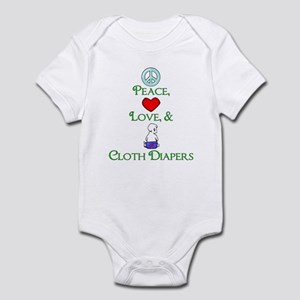 Peace, Love, & Cloth Diapers Infant Creeper