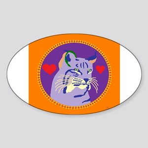 bobcat Sticker (Oval)