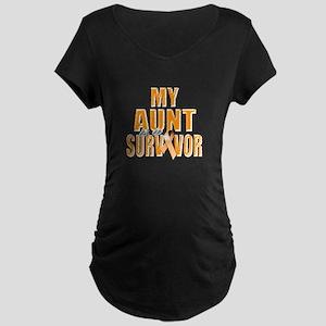 My Aunt is a Survivor Maternity Dark T-Shirt