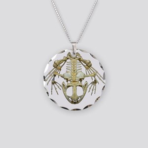 Starving Frog Necklace Circle Charm