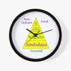 New Orleans Food Pyramid Wall Clock