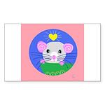 rat Sticker (Rectangle 50 pk)