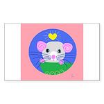 rat Sticker (Rectangle 10 pk)