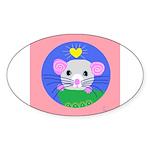 rat Sticker (Oval)