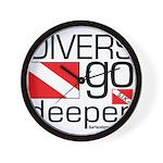 Divers go Deeper Wall Clock