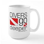 Divers go Deeper Large Mug