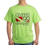 Divers go Deeper Green T-Shirt
