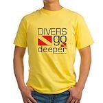 Divers go Deeper Yellow T-Shirt