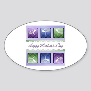 Happy Mother's Day (dragonflies) Oval Sticker
