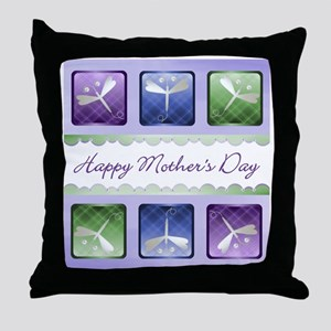 Happy Mother's Day (dragonflies) Throw Pillow