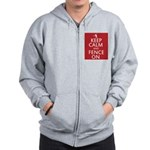 keep clam and fence on Zip Hoodie