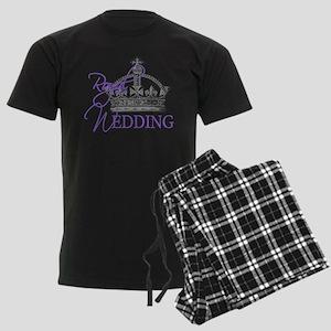 Royal Wedding London England Men's Dark Pajamas