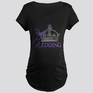 Royal Wedding London England Maternity Dark T-Shir
