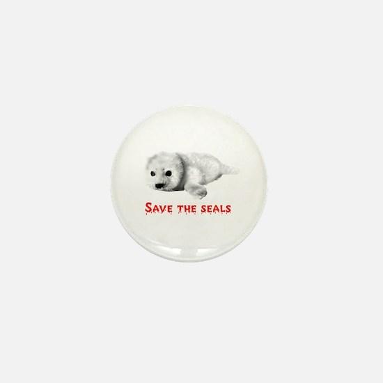 Save the Baby Harp Seals Mini Button