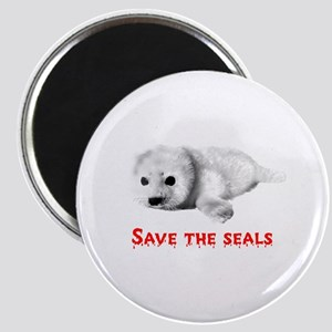 Save the Baby Harp Seals Magnet