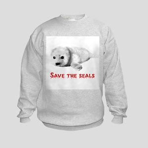 Save the Baby Harp Seals Kids Sweatshirt