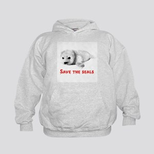 Save the Baby Harp Seals Kids Hoodie