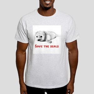 Save the Baby Harp Seals Ash Grey T-Shirt