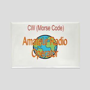 CW Amateur Radio Operator Rectangle Magnet