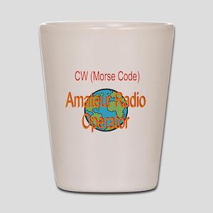 CW Amateur Radio Operator Shot Glass