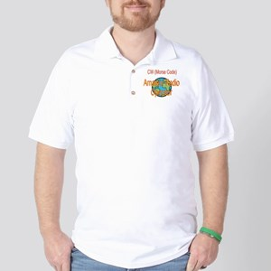 CW Amateur Radio Operator Golf Shirt